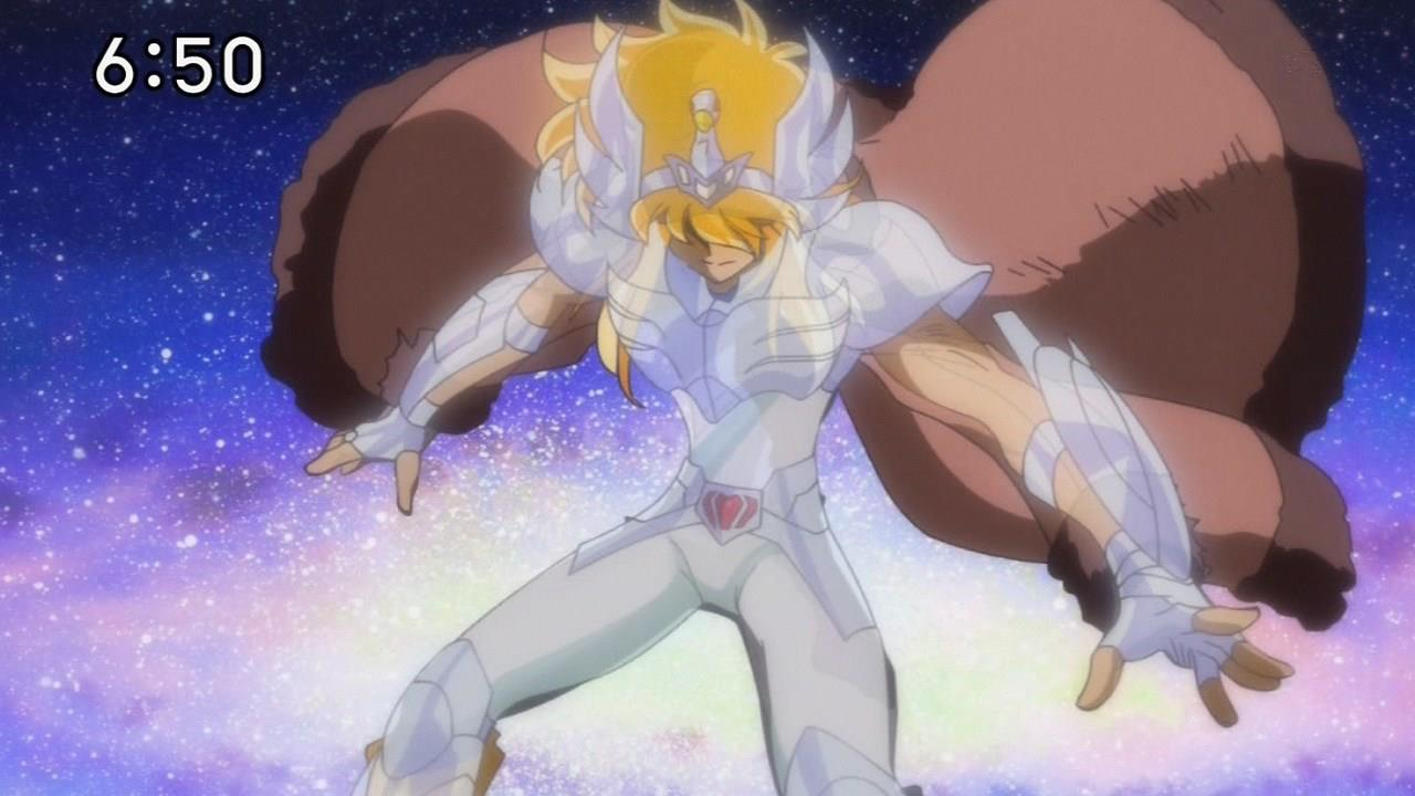 Saint Seiya Omega 21 - Hyoga vs Koga video cenas