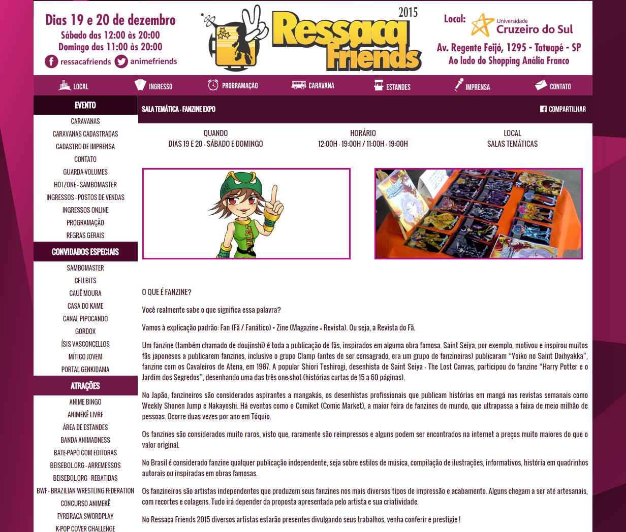 site ressaca friends fanzine expo diego maryo 2015