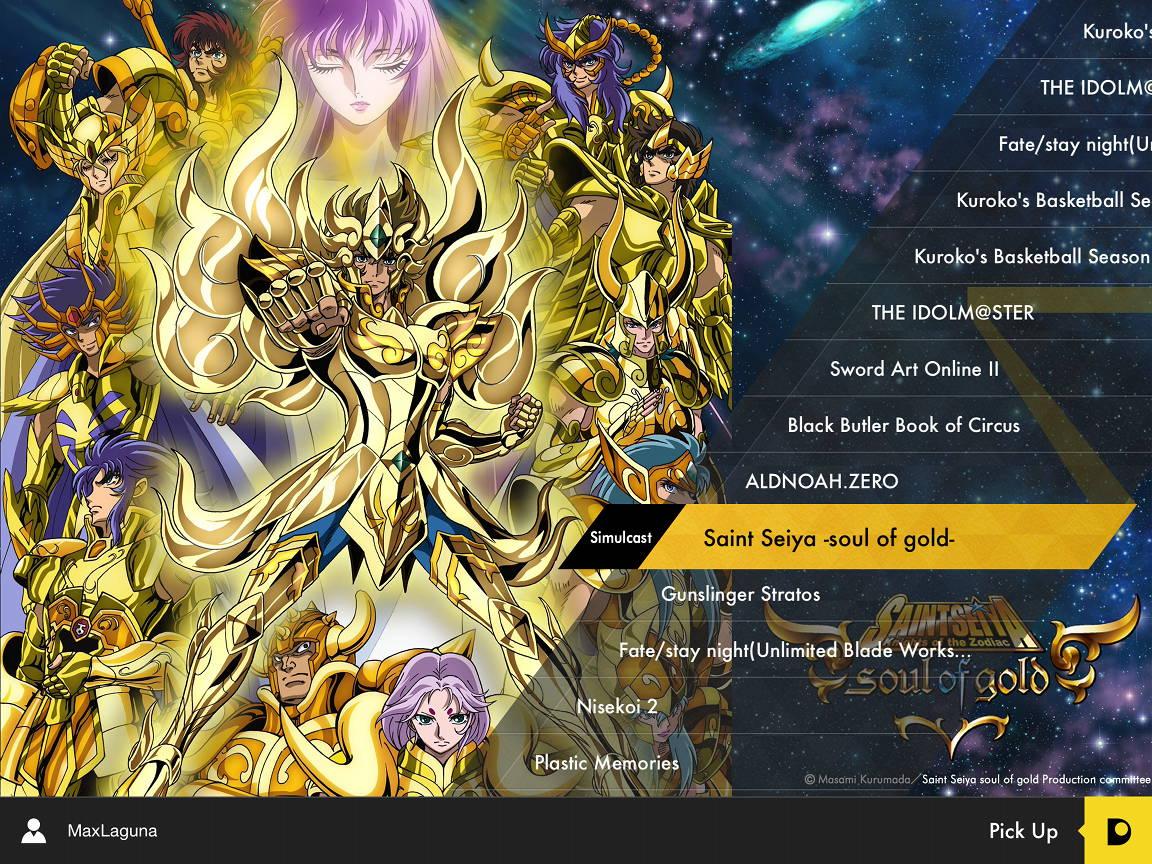 O canal via streaming Daisuki lançou os episódios de Alma de Ouro